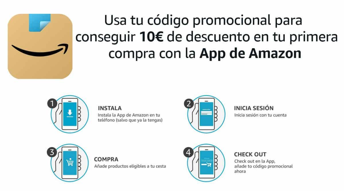 Promoción primera compra en App Amazon, chollo