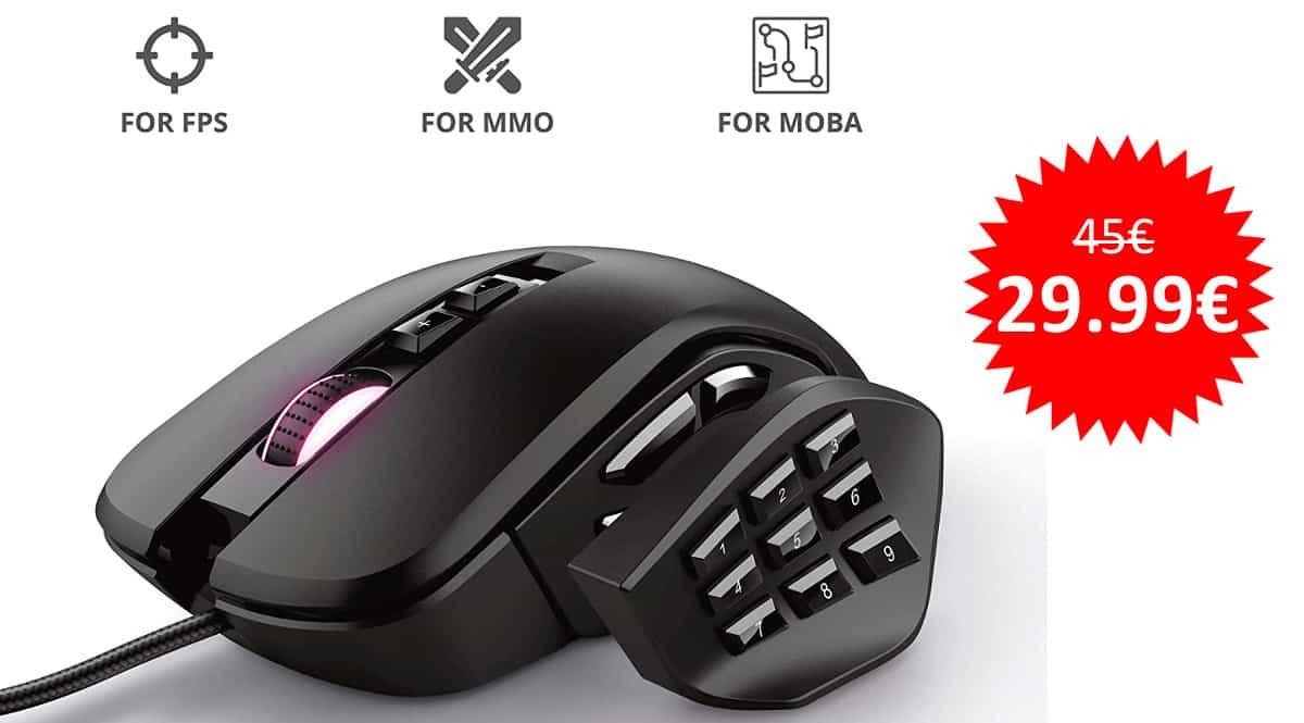 ¡Precio mínimo histórico! Ratón gaming Trust GXT 970 Morfix sólo 29.99 euros.