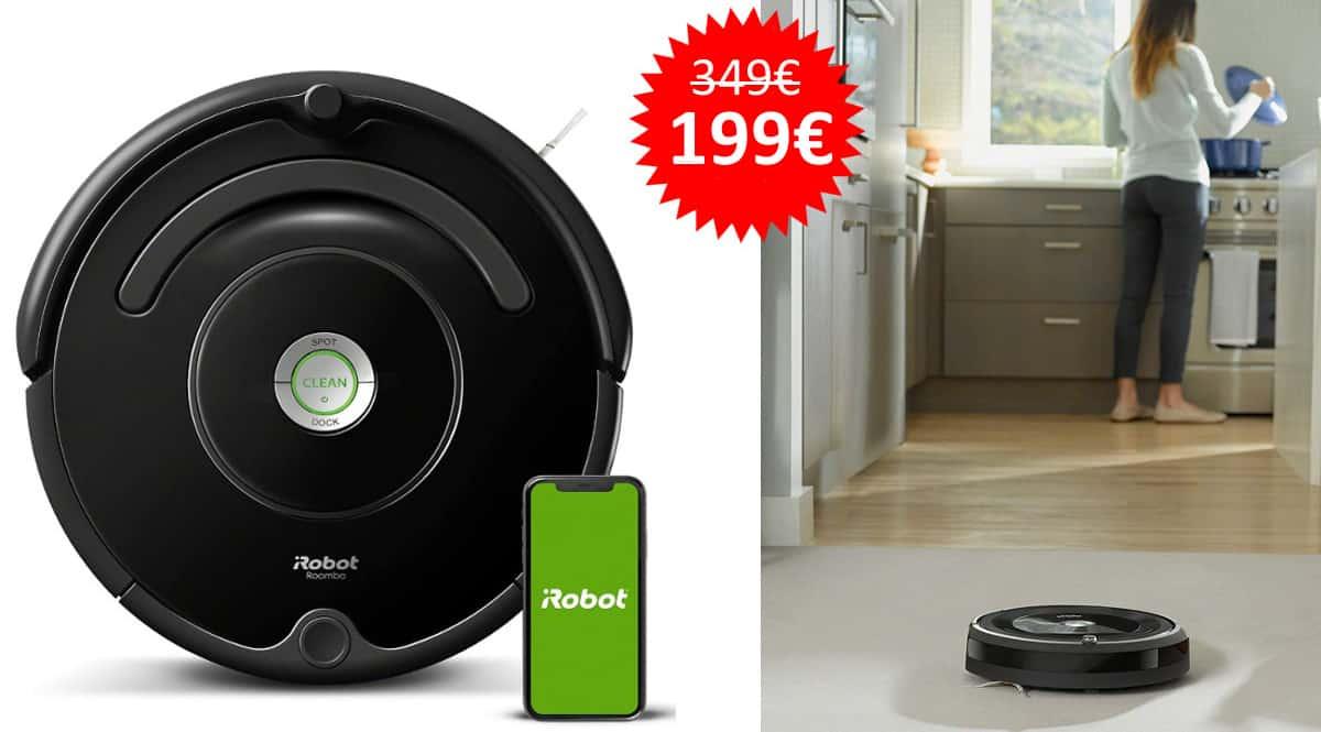 Robot aspirador iRobot Roomba 671 barato, aspiradores baratos, ofertas para la casa chollo