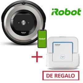 Robot aspirador iRobot Roomba e5154 Wifi + friegasuelos iRobot Braava jet 250 baratos, robots aspiradores de marca baratos, ofertas hogar