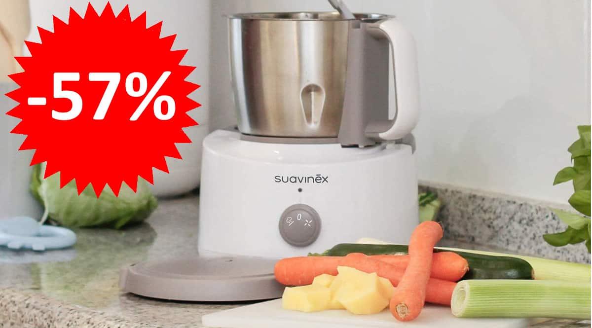 Robot de Cocina Bebé 5 en 1 Suavinex, robots de cocina de marca baratos, ofertas para niños, chollo