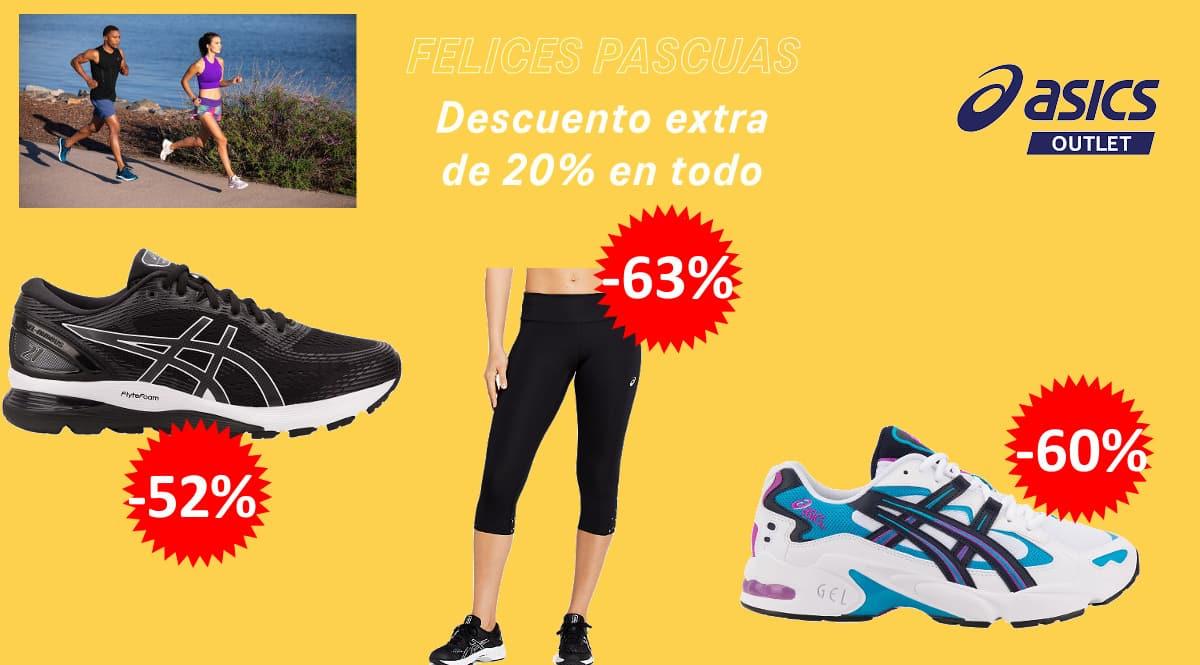 Ropa de deporte y zapatillas Asics baratas, ofertas en ropa y zapatillas de marca baratas, ofertas material deportivo de marca, chollo