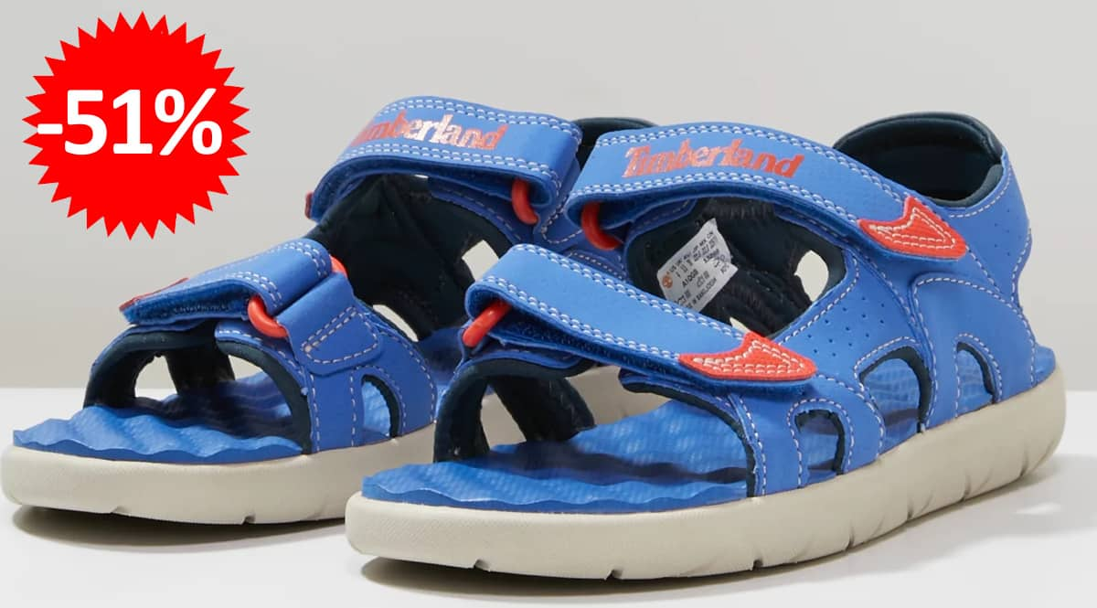 Sandalias para niños Timberland Perkins Row 2-Strap baratas, sadalias de marca baratas, ofertas en calzado para niños, chollo