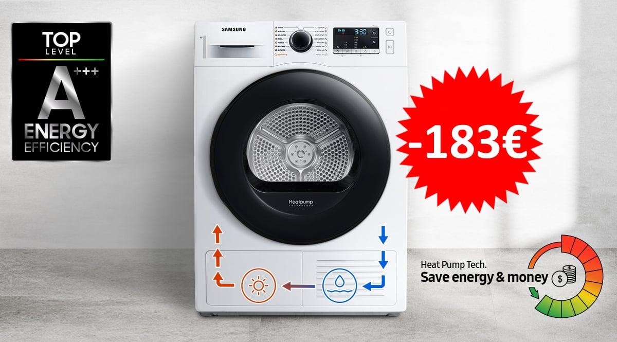 Secadora Samsung DV80TA020TE barata. Ofertas en secadoras, secadoras baratas, chollo