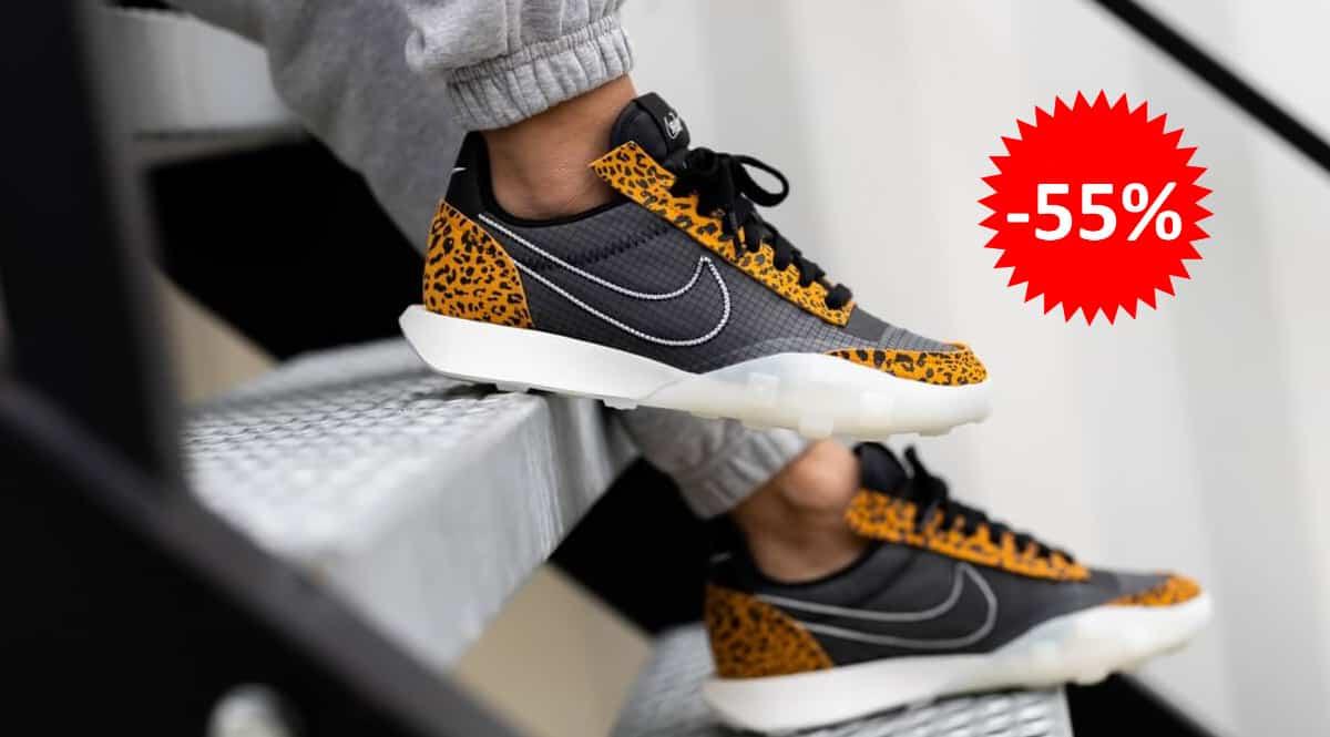 Zapatillas Nike Waffle Racer 2X animal print baratas, calzado de marca barato, ofertas en zapatillas chollo