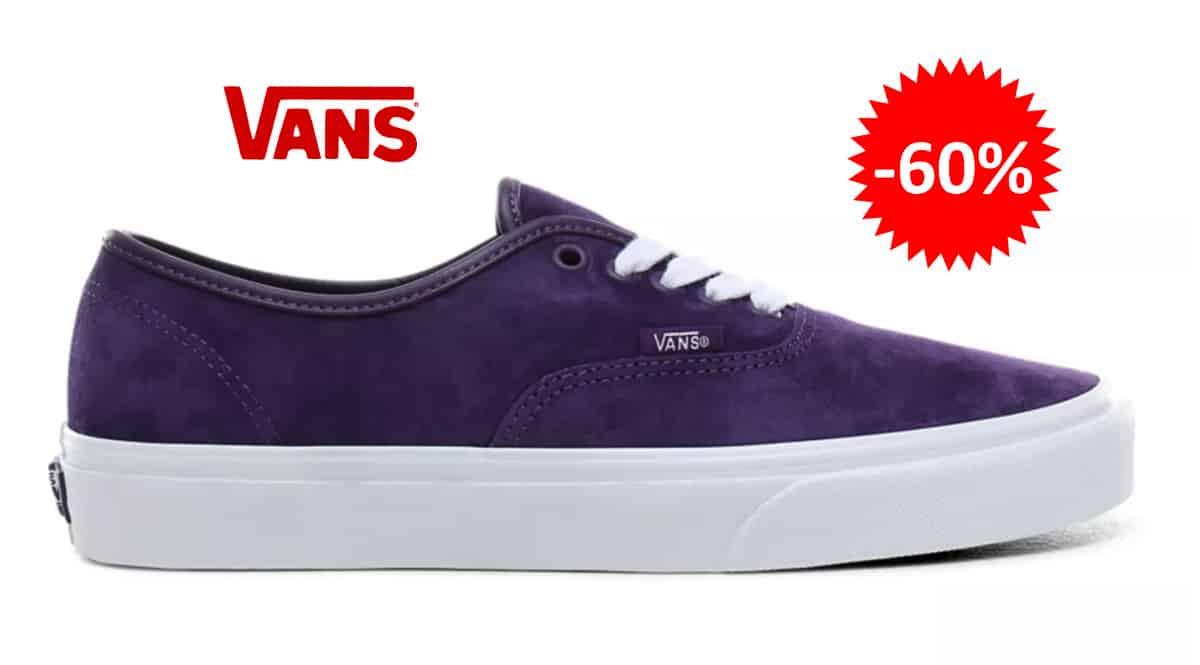 Zapatillas Vans Authentic de ante baratas, calzado de marca barato, ofertas en zapatillas chollo