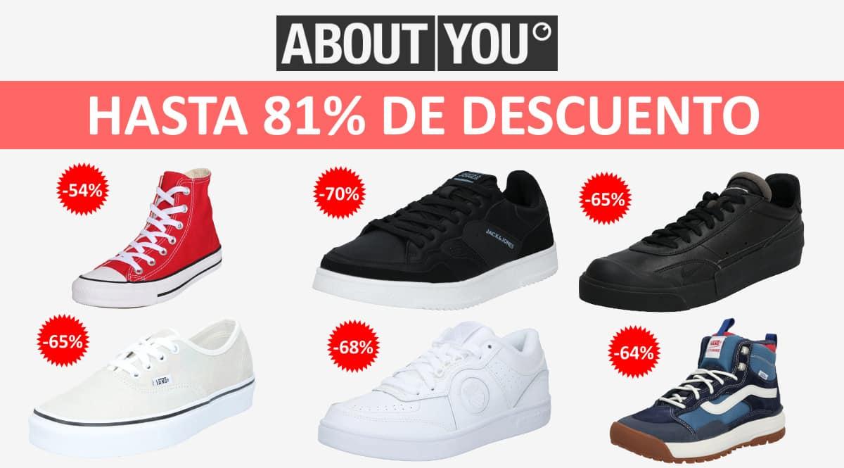 Zapatillas deportivas baratas en About You, calzado de marca barato, ofertas en zapatillas chollo