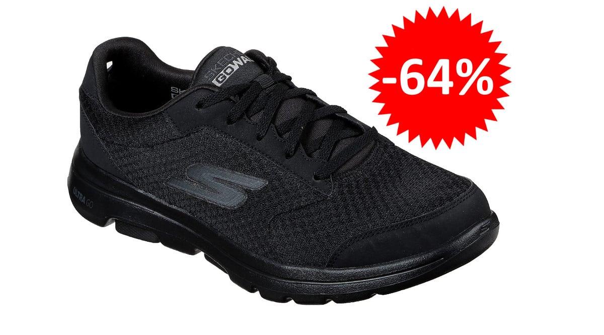 ¡Código descuento! Zapatillas para hombre Skechers GOwalk 5 Qualify sólo 24.97 euros. 64% de descuento.