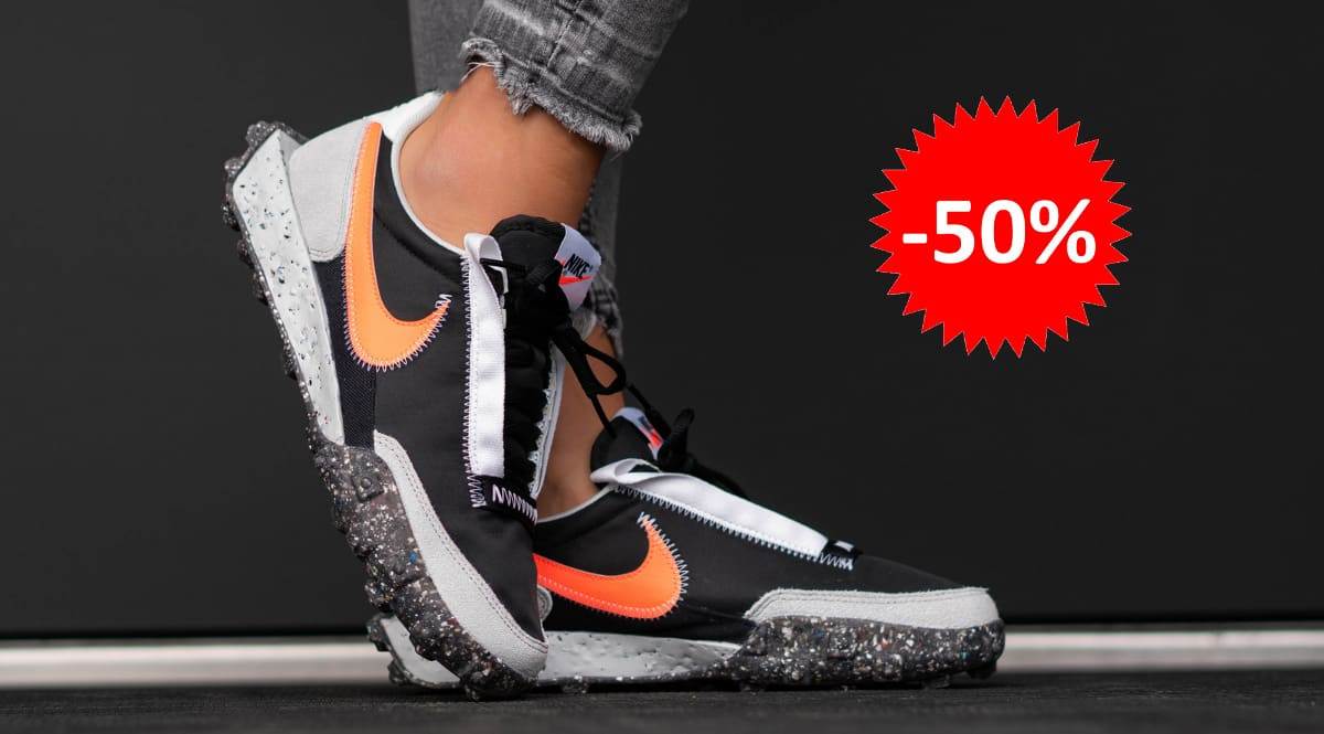 Zapatillas unisex Nike Waffle Racer Crater baratas, calzado de marca barato, ofertas en zapatillas chollo