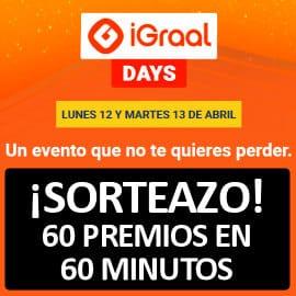 iGraal Days 12 y 13 de abril, súper cashback iGraal, sorteo iGraal