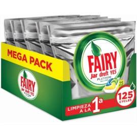 125 pastillas de detergente Fairy Platinum All in One baratas. Ofertas en supermercado