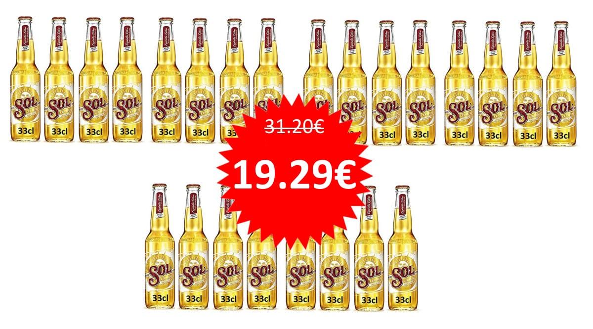 24 botellines de cerveza mexicana Sol baratos. Ofertas en supermercado,chollo