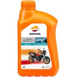 ¡Precio mínimo histórico! Aceite lubricante sintético Repsol para moto 4T 10W40, 1L, sólo 6.80 euros.