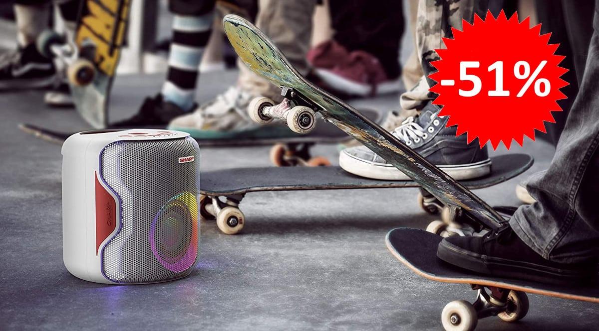 ¡¡Chollo!! Altavoz Bluetooth Sharp PS-919 sólo 63 euros. 51% de descuento.