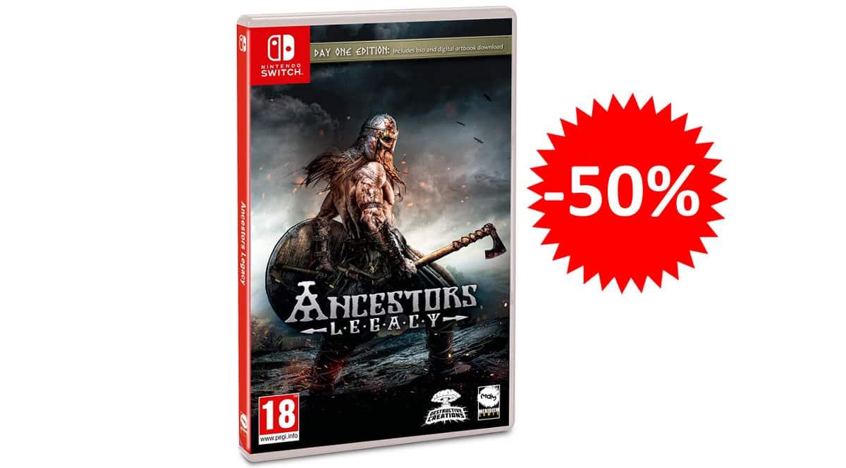 ¡¡Chollo!! Ancestors Legacy Day One Edition para Nintendo Switch sólo 19.99 euros. 50% de descuento.