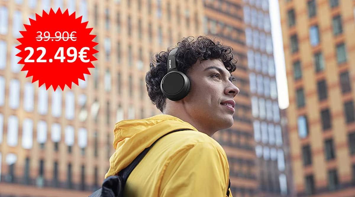 ¡Precio mínimo histórico! Auriculares Bluetooth Philips H4205BK/00 sólo 22 euros.