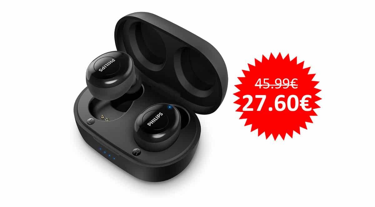 ¡Precio mínimo histórico! Auriculares Bluetooth Philips T2205BK/00 sólo 27 euros.