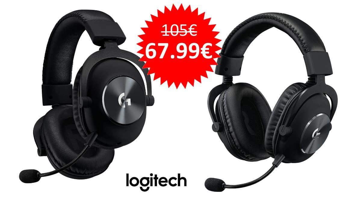 ¡Precio mínimo histórico! Auriculares gaming Logitech G Pro sólo 67.99 euros.