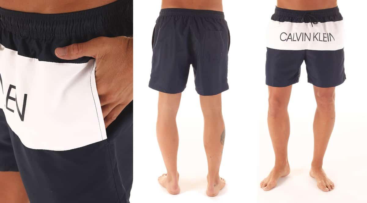Bañador Calvin Klein color block barato, ropa de marca barata, ofertas en bañadores chollo