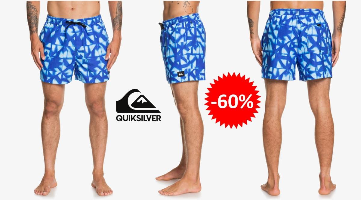 ¡¡Chollo!! Bañador Quiksilver Dye Check 15″ sólo 16 euros. 60% de descuento.