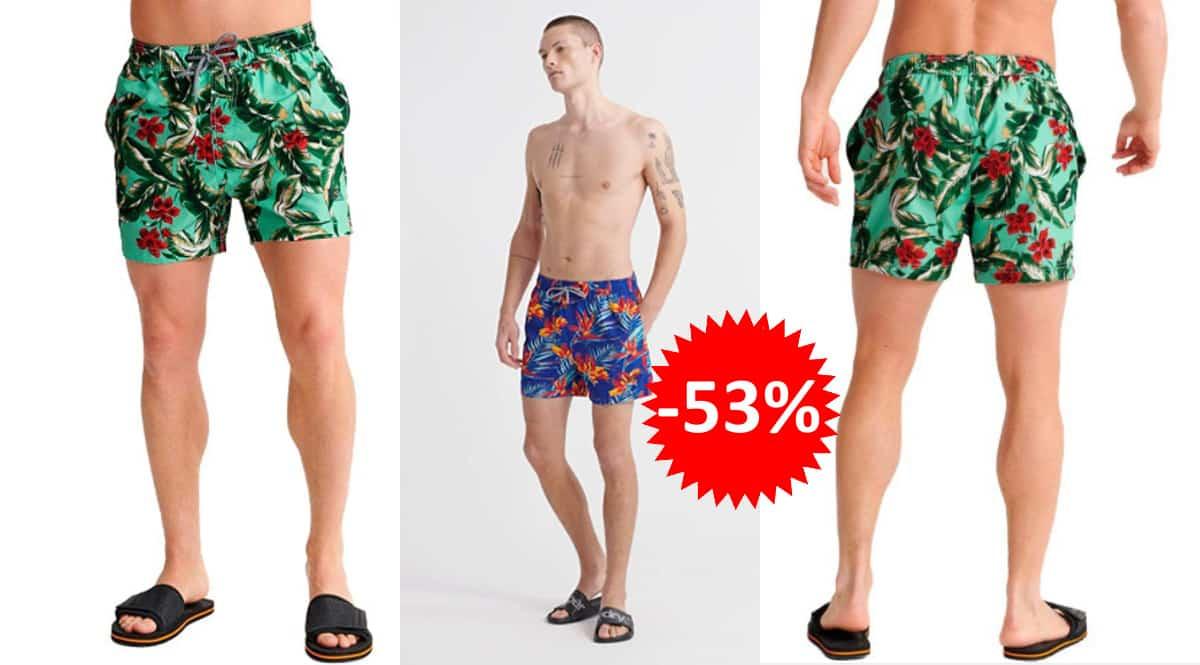 Bañador Superdry Beach Volley barato, bañadores de marca baratos, ofertas en ropa