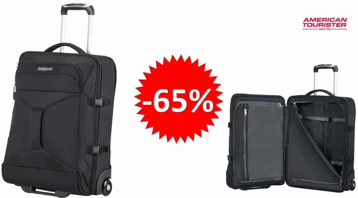 Bolsa de viaje con ruedas American Tourister Road quest S , maletas de marca baratas, ofertas equipaje, chollo