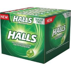 ¡¡Chollo!! Caja de 20 paquetes de caramelos Halls de menta sin azúcar sólo 9.20 euros.