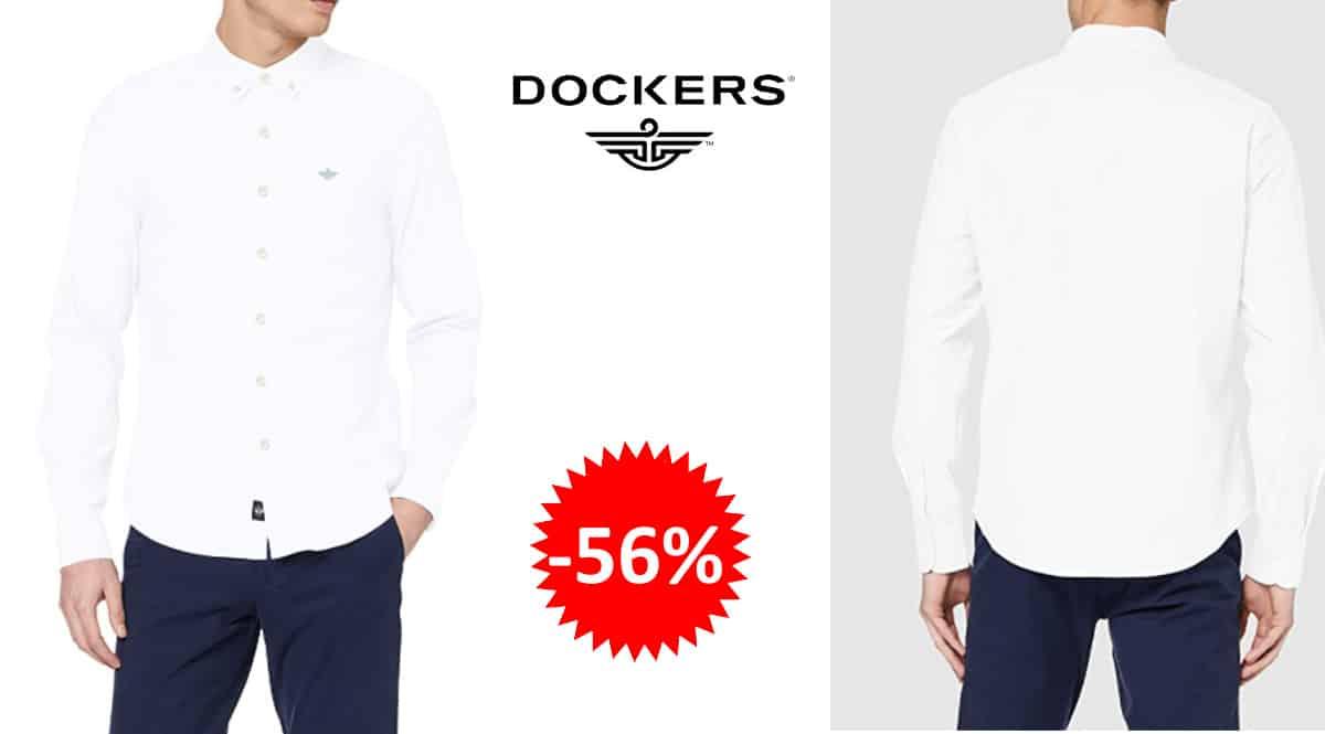 Camisa Dockers Stretch Oxford barata, camisas de marca baratas, ofertas en ropa, chollo