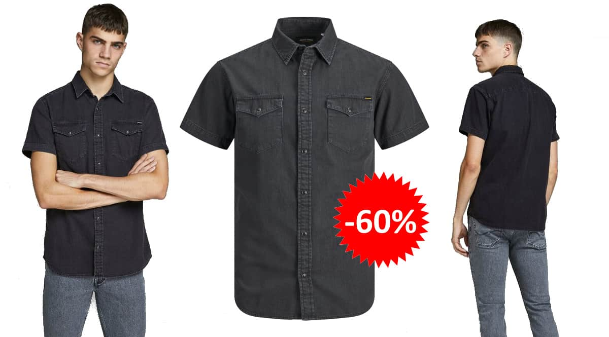 Camisa de manga corta Jack & Jones Sheridan barata, ropa de marca barata, ofertas en camisas chollo