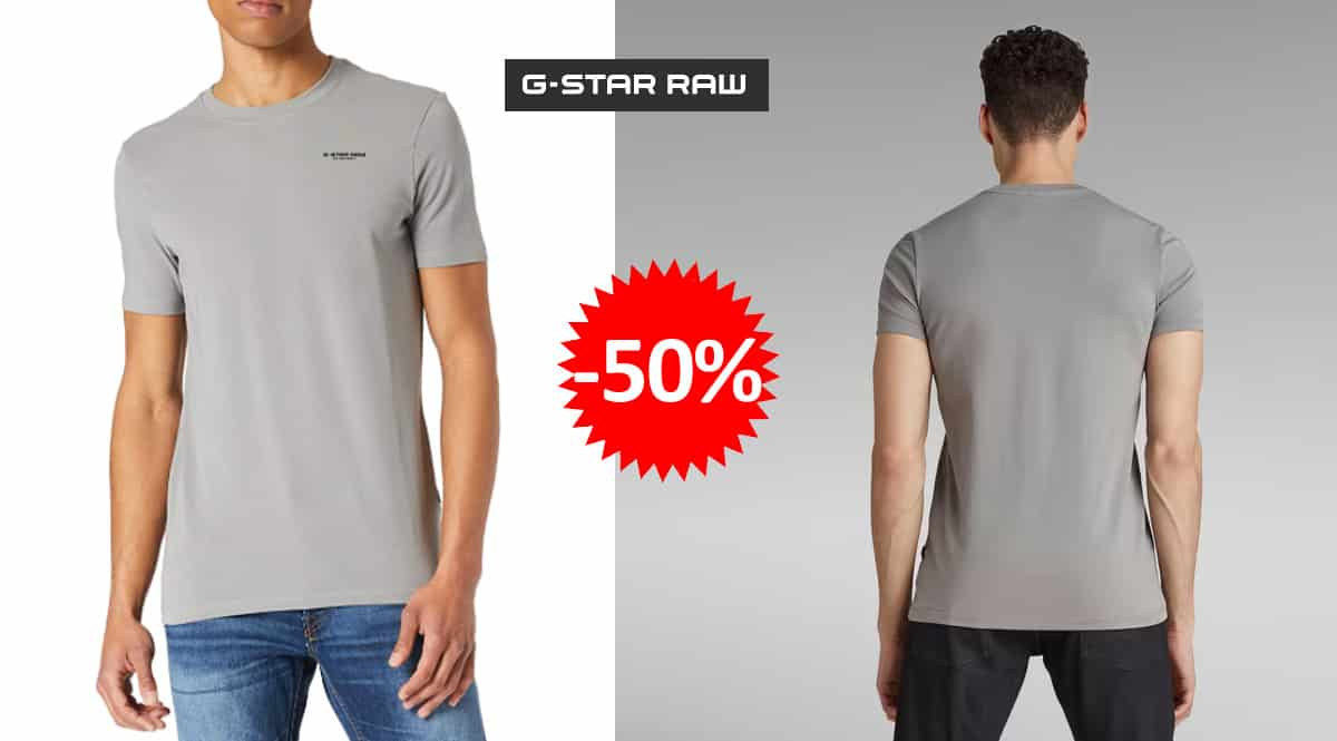 Camiseta G-STAR RAW Slim Base barata, camisetas de marca baratas, ofertas en ropa, chollo