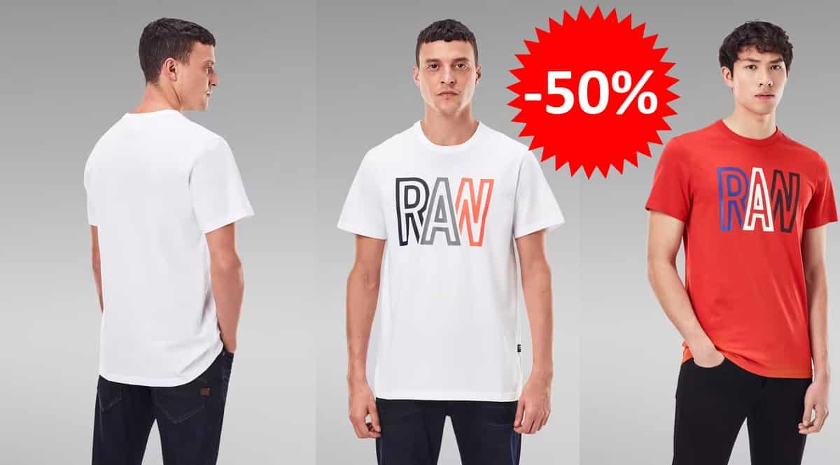 Camiseta G-Star Raw Raw barata, camisetas de marca baratas, ofertas en ropa, chollo