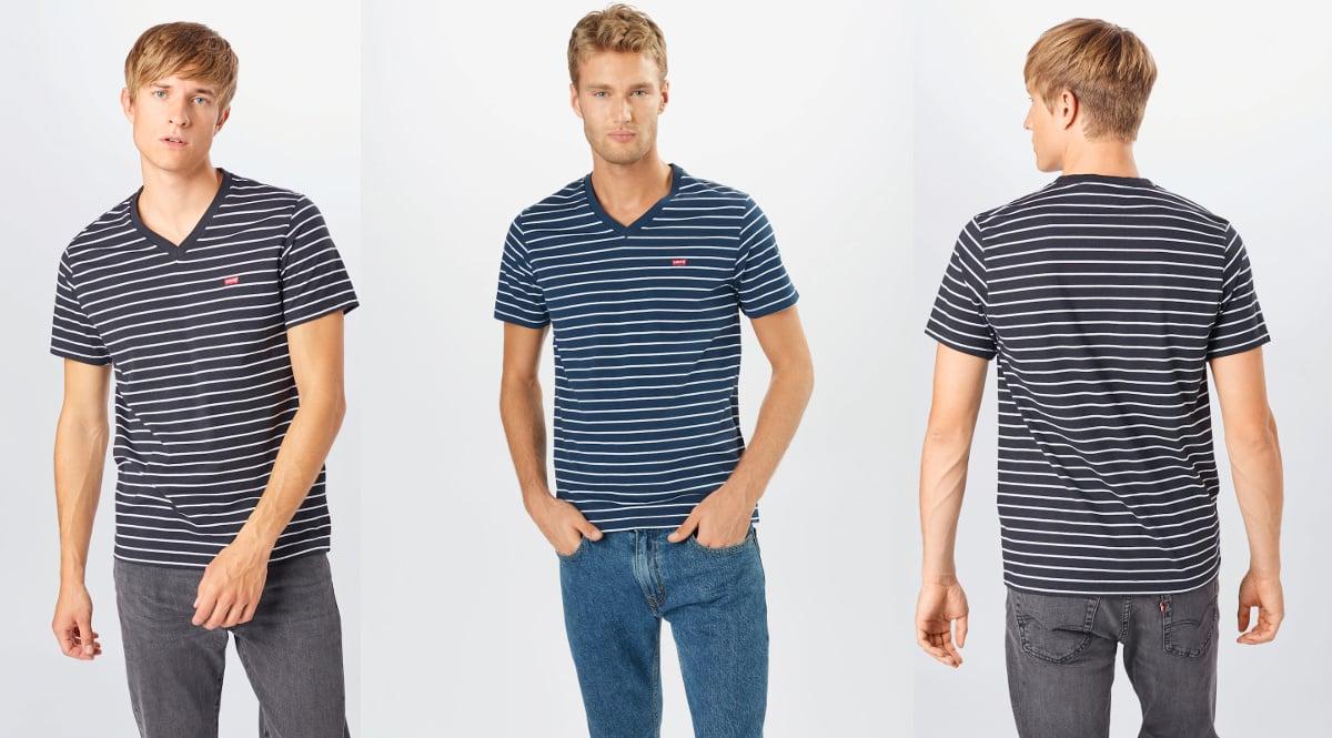 Camiseta Levi's Original Housemark Vneck barata, camisetas de marca baratas, ofertas en ropa, chollo
