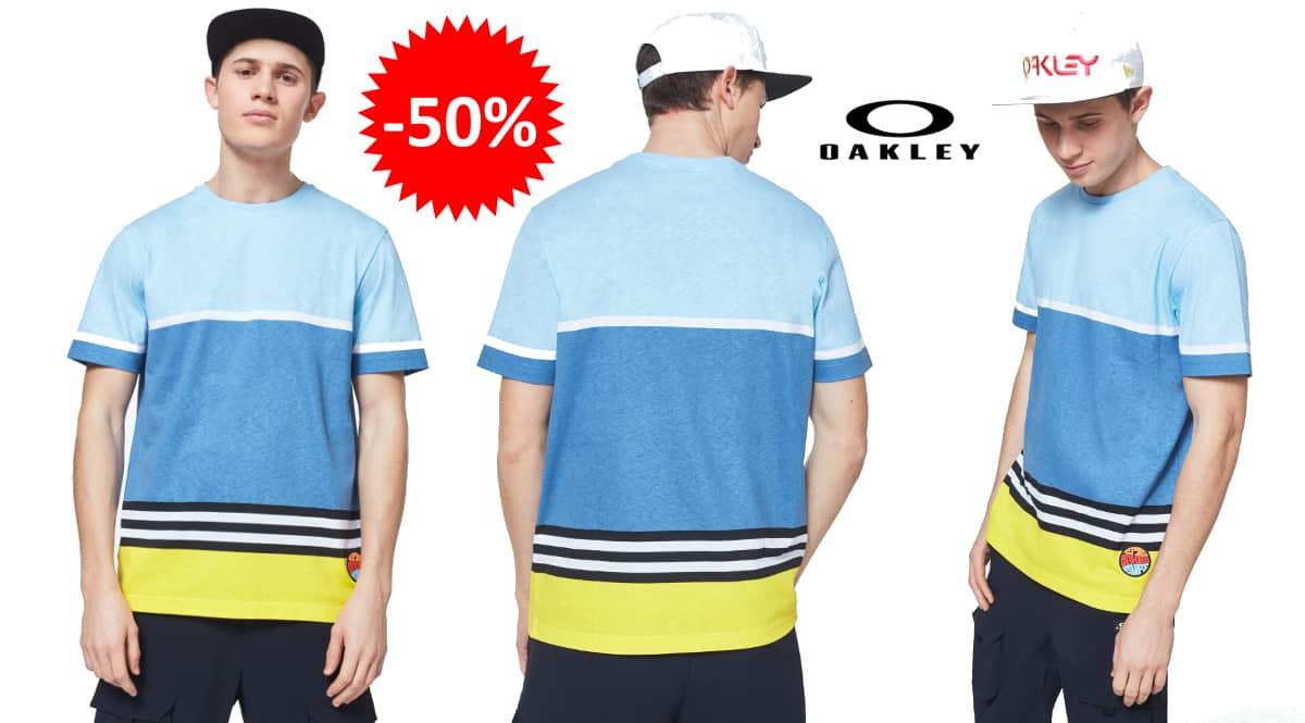 Camiseta Oakley Striped 1975 barata, ropa de marca barata, ofertas en camisetas chollo