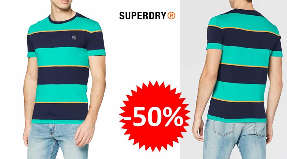Camiseta Superdry Collective Stripe barata, camisetas de marca baratas, ofertas en ropa, chollo