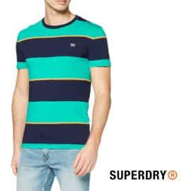 Camiseta Superdry Collective Stripe barata, camisetas de marca baratas, ofertas en ropa