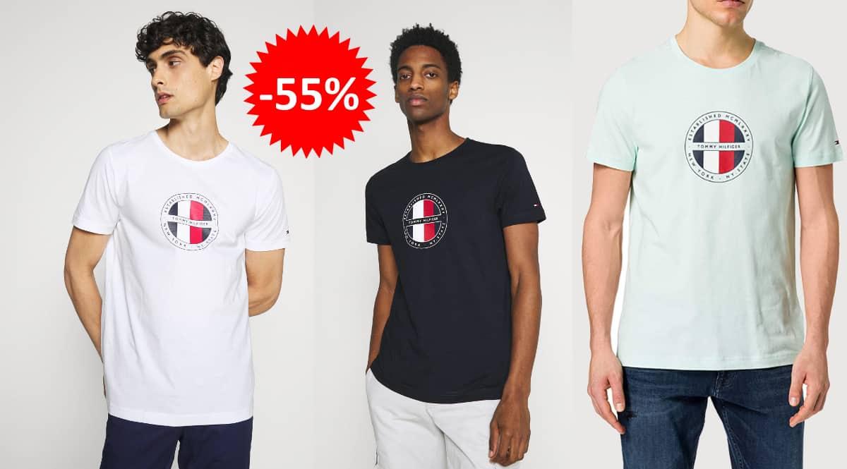 Camiseta Tommy Hilfiger Circular Logo barata, ropa de marca barata, ofertas en camisetas chollo