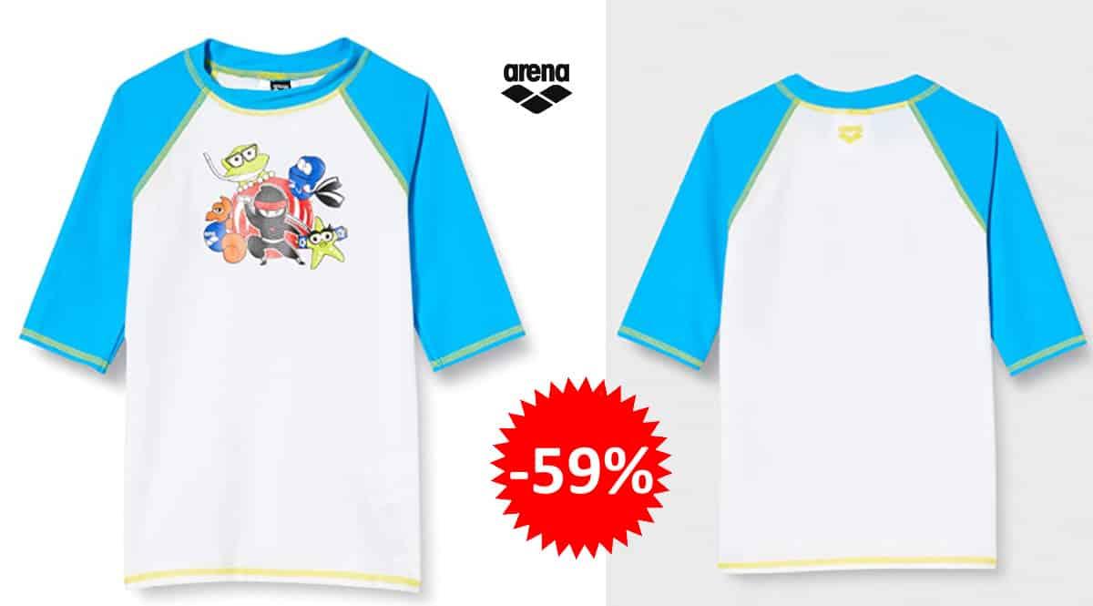 Camiseta de baño para niños Arena barata, camisetas de marca baratas, ofertas en bañadores para niños, chollo