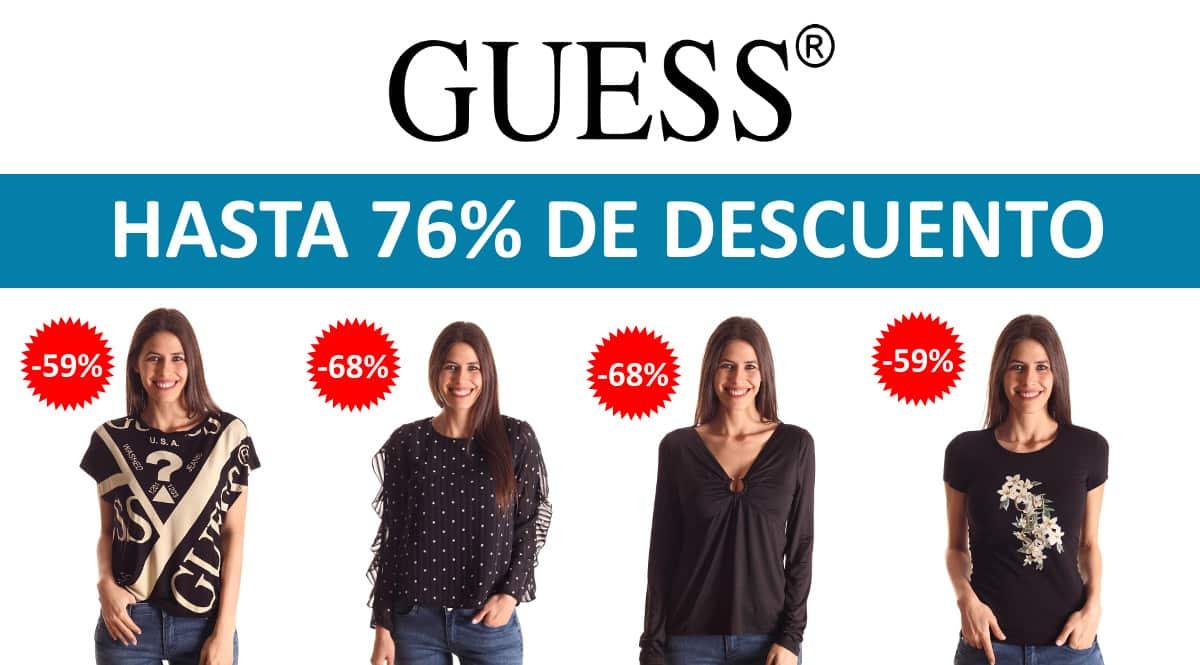Camisetas Guess baratas, ropa de marca barata, ofertas en camisetas chollo