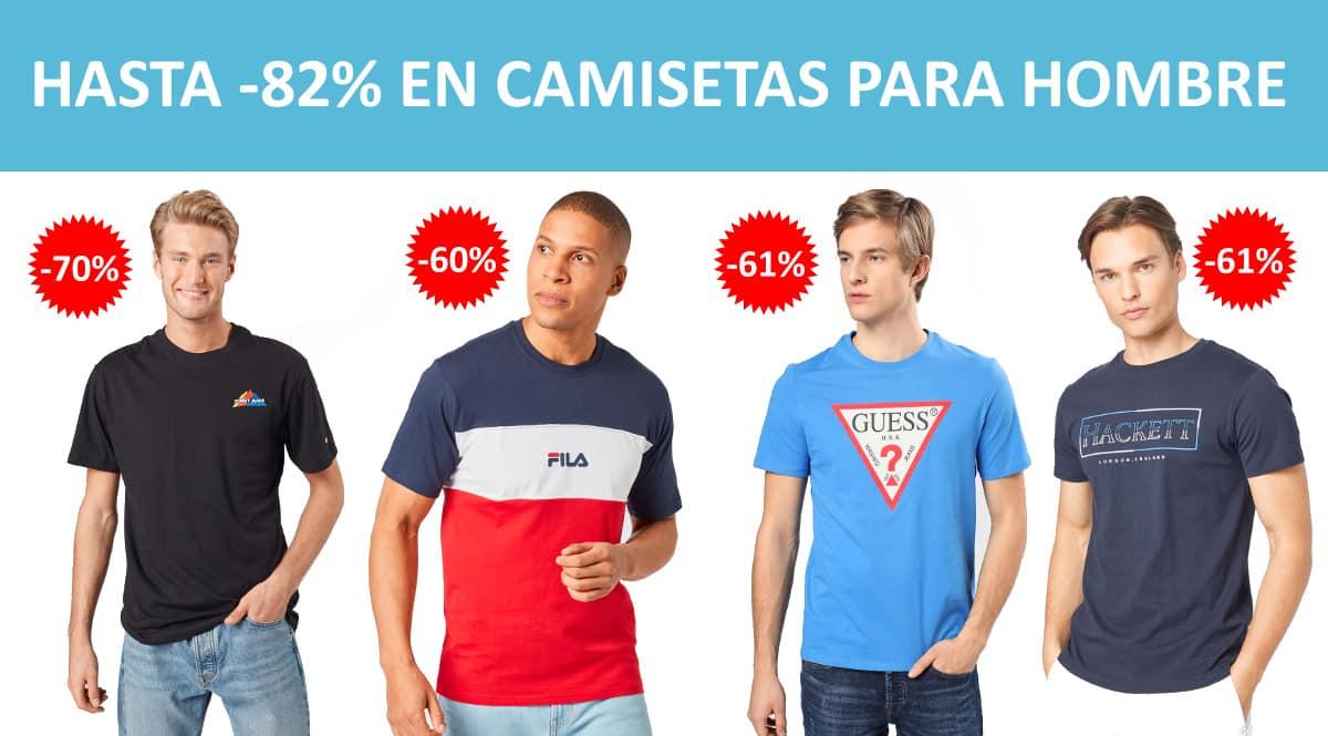 Camisetas para hombre baratas, ropa de marca barata, ofertas en camisetas chollo