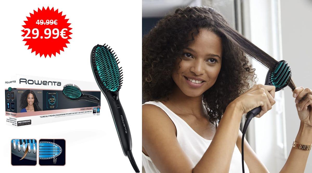 Cepillo alisador Rowenta Straight CF5820 barato, cepillos alisadores de marca baratos, ofertas en belleza, chollo