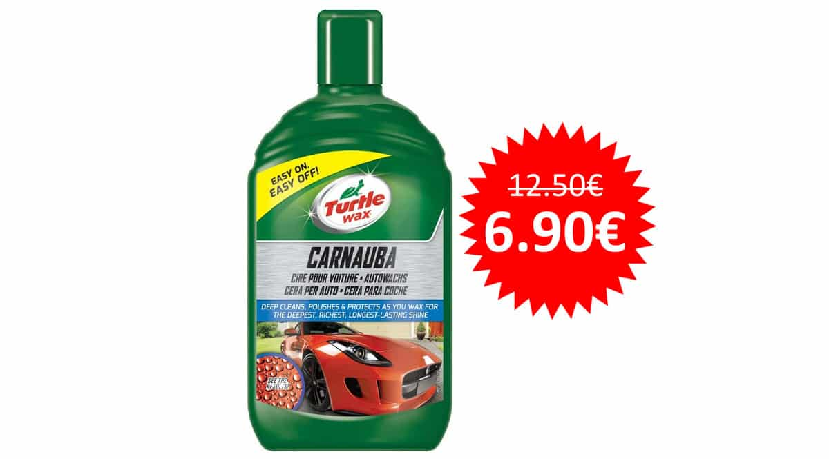 ¡Precio mínimo histórico! Cera en pasta de carnauba para coche Turtle Wax FG7814 500ml sólo 6.90 euros.
