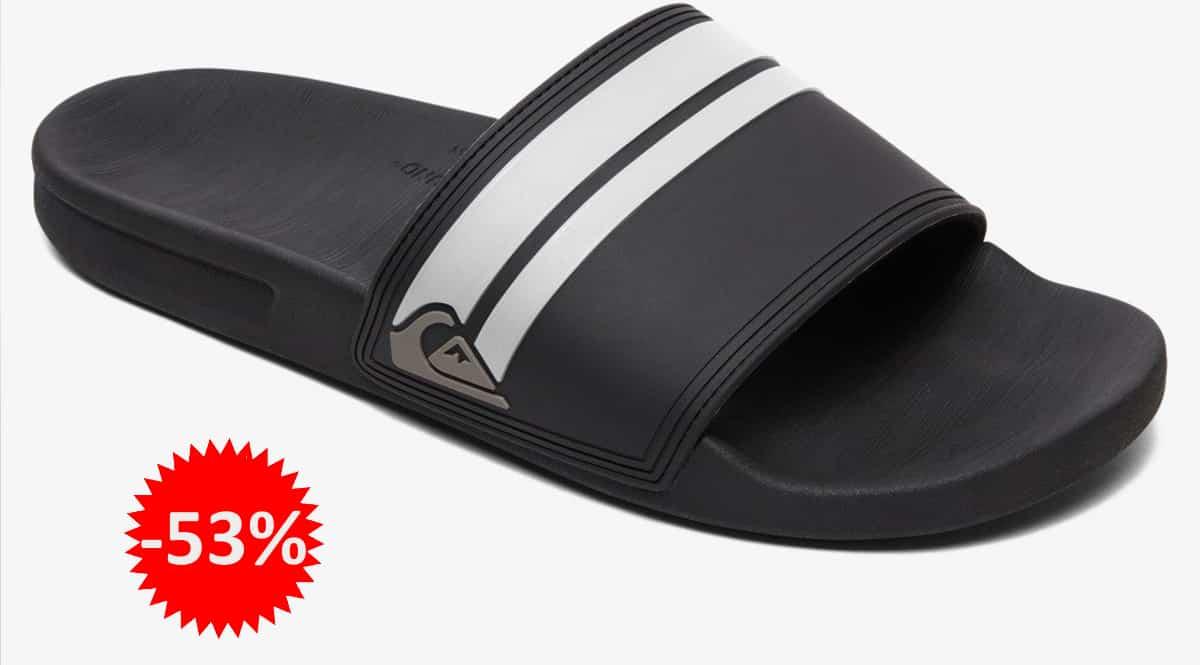 Chanclas para hombre Quiksilver Rivi Slide baratas, chnaclas de marca baratas, ofertas en calzado, chollo