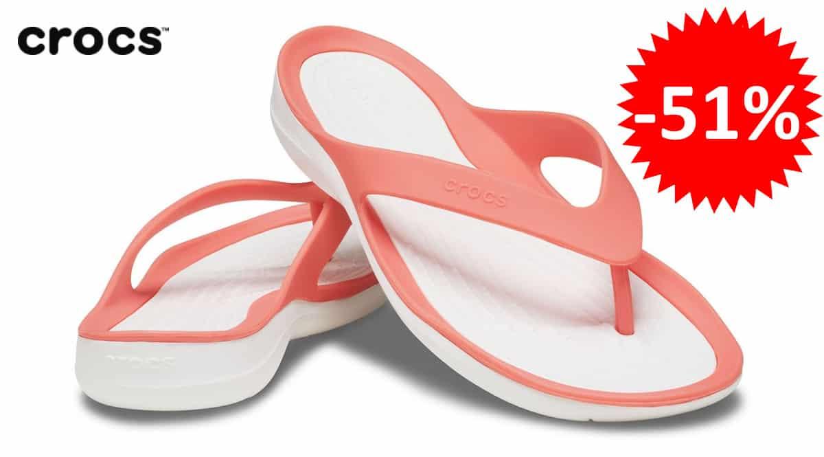 Chanclas para mujer Crocs Swiftwater Flip baratas, chanclas de marca baratas,ofertas en calzado, chollo