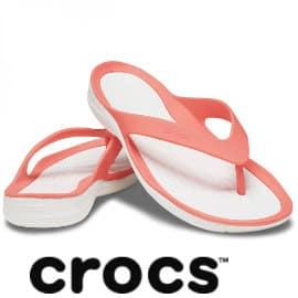 Chanclas para mujer Crocs Swiftwater Flip baratas, chanclas de marca baratas,ofertas en calzado