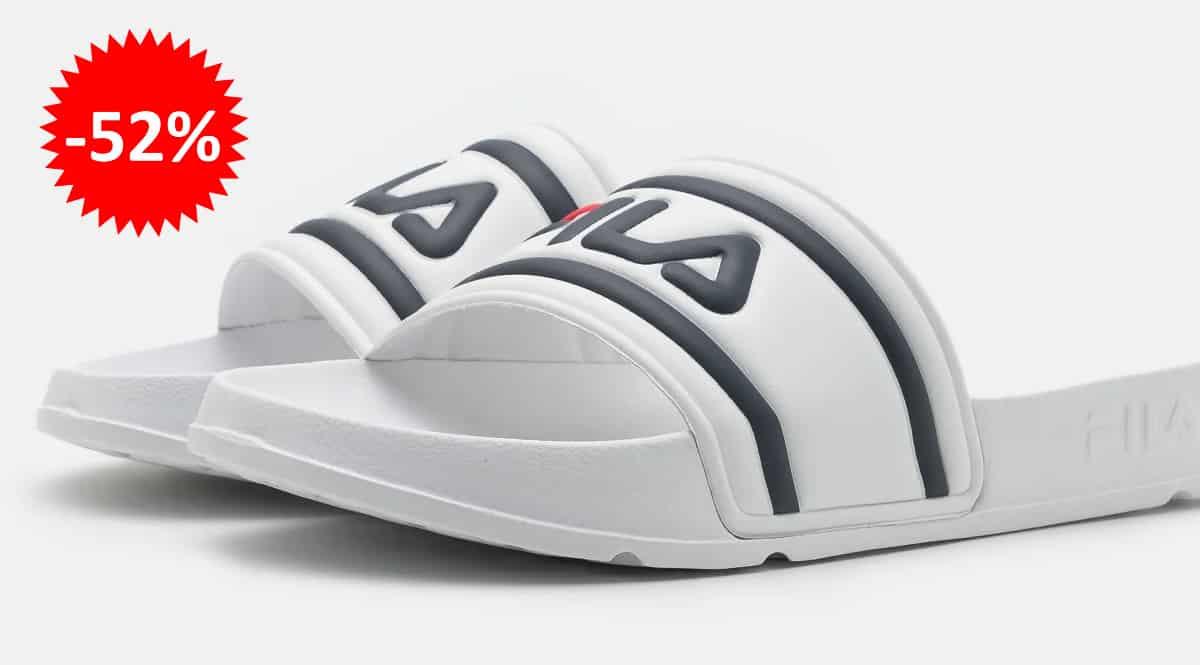 Chanclas para mujer Fila Morro Bay Slipper baratas, calzado de marca barato, ofertas en chanclas chollo