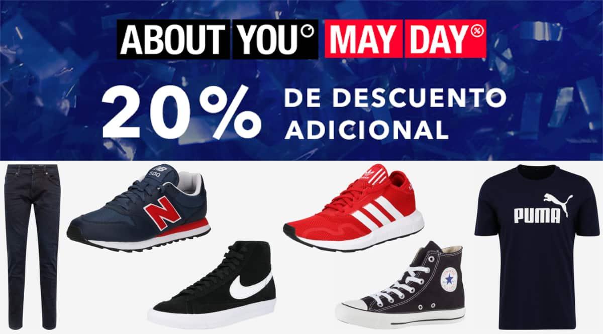 Código descuento About You. Ofertas en ropa de marca, ropa de marca barata, ofertas en zapatillas, zapatillas baratas, chollo