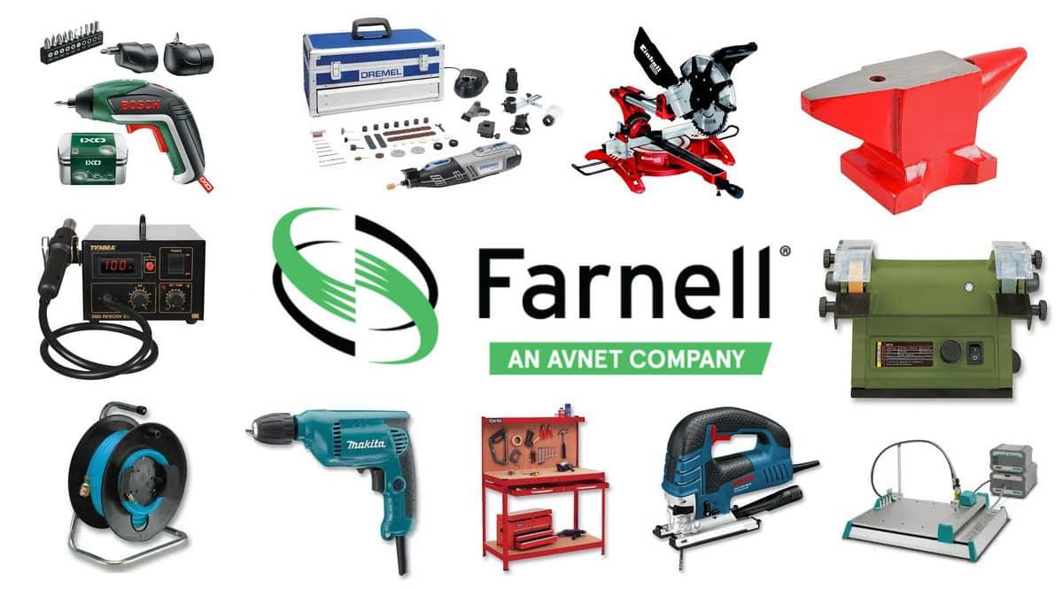 Código descuento exclusivo en herramientas Farnell, herramientas baratas, ofertas en herramientas