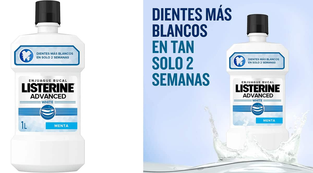 Enjuague bucal Listerine Advanced barato, enjuagues bucales de marca baratos, ofertas supermercado