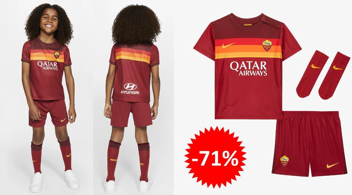 Equipación Nike de la Roma para niños barata, ropa de marca barata, ofertas para niños chollo