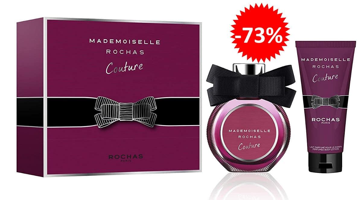 Estuche de perfume para mujer Mademoiselle Rochas Couture bararto, perfumes de marca baratos, ofertas en belleza, chollo